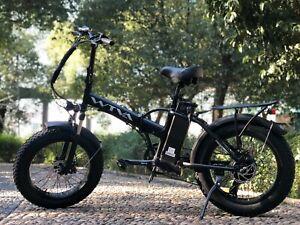 "20""Fat Tire 750W 48V 13AH Folding Electric Bike Beach Snow E Bicycle Black"