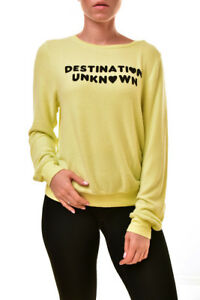 pour Destination Femme Sweat Wvv61391w inconnue Wildfox Jaune x64S7q