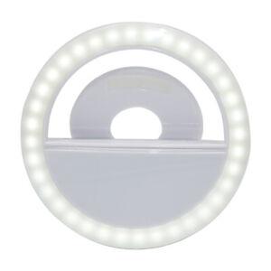 LED Selfie Ring Light Macro Flash Light for Mobile Phone Camera (White)