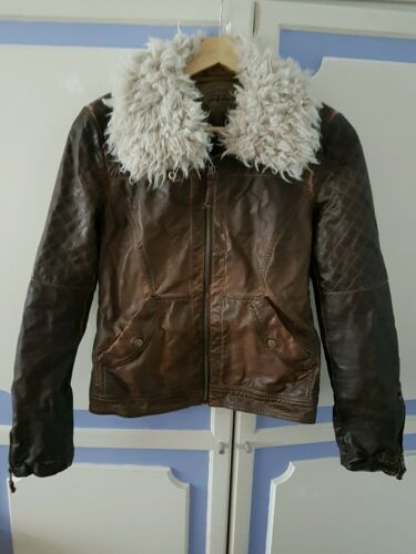 Eur Zara L Vgc Faux taglia Leather Jacket 6vqIwSv