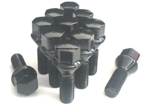 4 20mm Hub Centric Wheel Spacers 5x112 Mercedes 12x1.5 Black Lug Bolts 66.56 CB