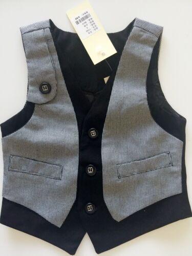 Boys Children Kids Cool Handsome Casual formal Spring Suits check Vest 1-7yrs
