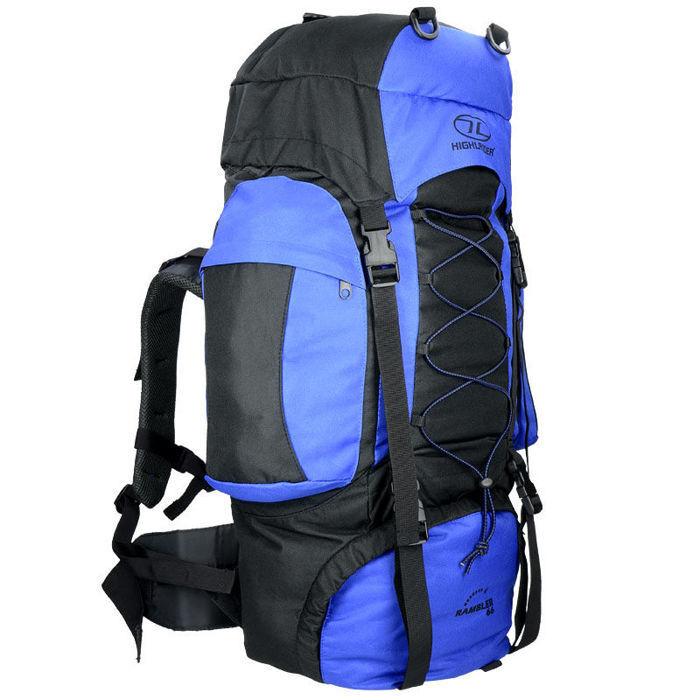 Highlander ZAINO Tourist RAMBLER 66 Trekking Camping Outdoor Blu