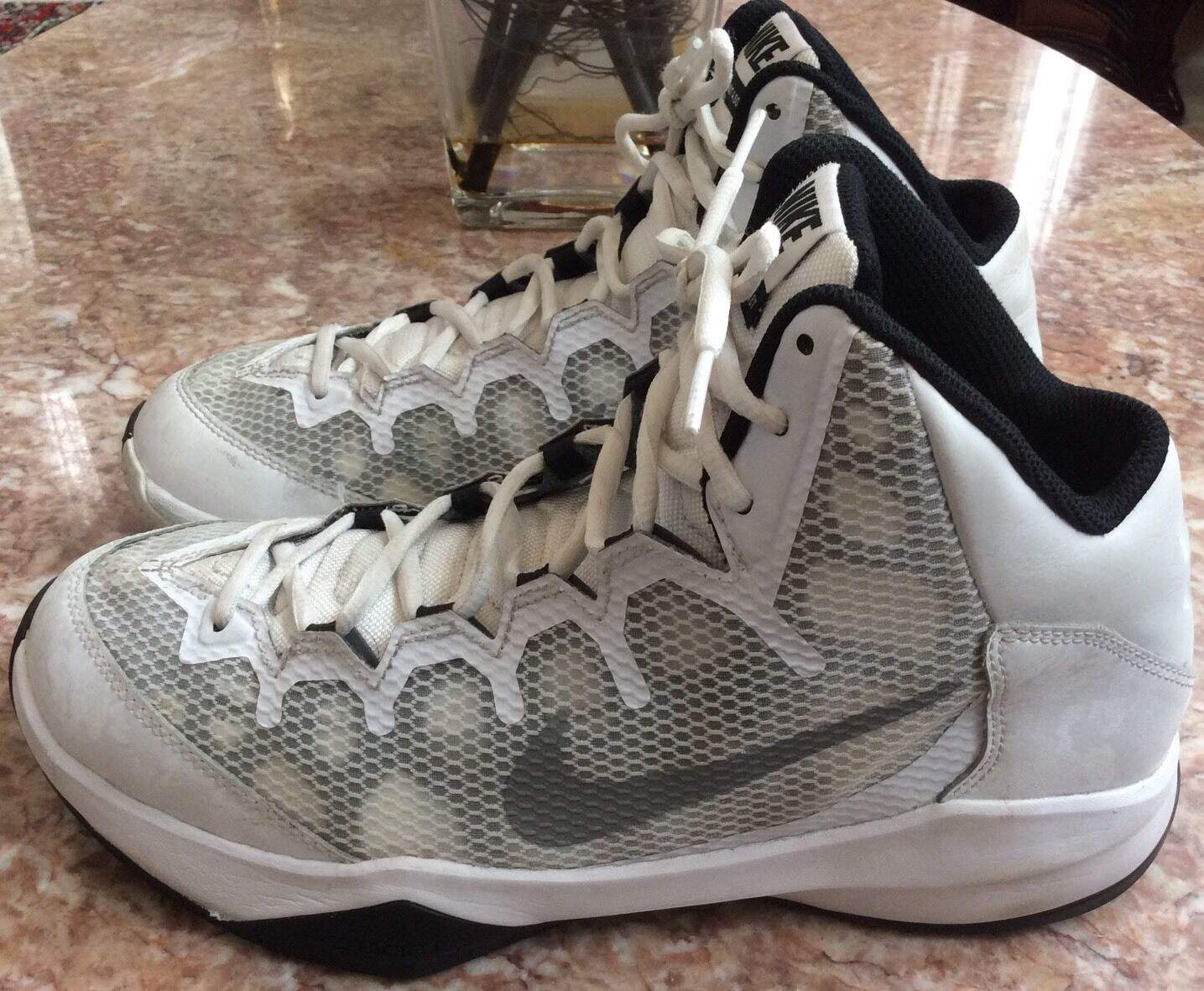Nike Zoom Men's White/Gray/Black Sneakers Comfortable Wild casual shoes