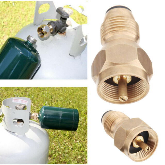 Propane Refill Adapter Gas 1Lb Cylinder Tank Coupler Heater Bottle Camping BBQ