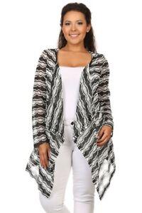 CANARI-Women-Plus-Size-Open-Front-Cardigan-Sweater-Jacket-Coat