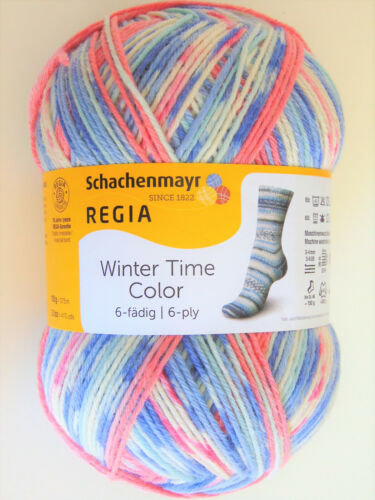 6-fädig REGIA WINTER TIME COLOR 150g Stricken Sockenwolle