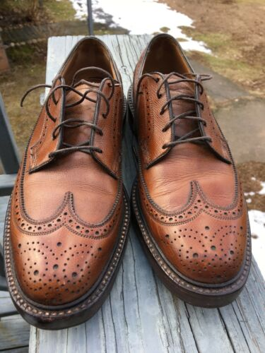Details about  /Florsheim Imperial 93602 Full Brogue Long Wing V Cleat 5 Nail Brown 8B EUC