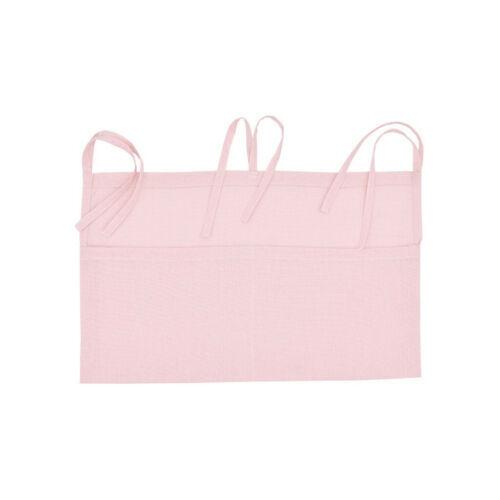 Baby Crib Pocket Nursery Organizer Solid Bedside Toys Hanging Storage Bag Descr