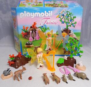 PLAYMOBIL-5451-Harfenfee-beim-Waldkonzert-Harfe-Geige-Gitarre-Tiere-Pflanzen-BOX