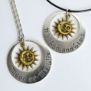 My Sun And Stars/lune De Ma Vie Game Of Thrones Keychain Ou Collier Pendentif-afficher Le Titre D'origine