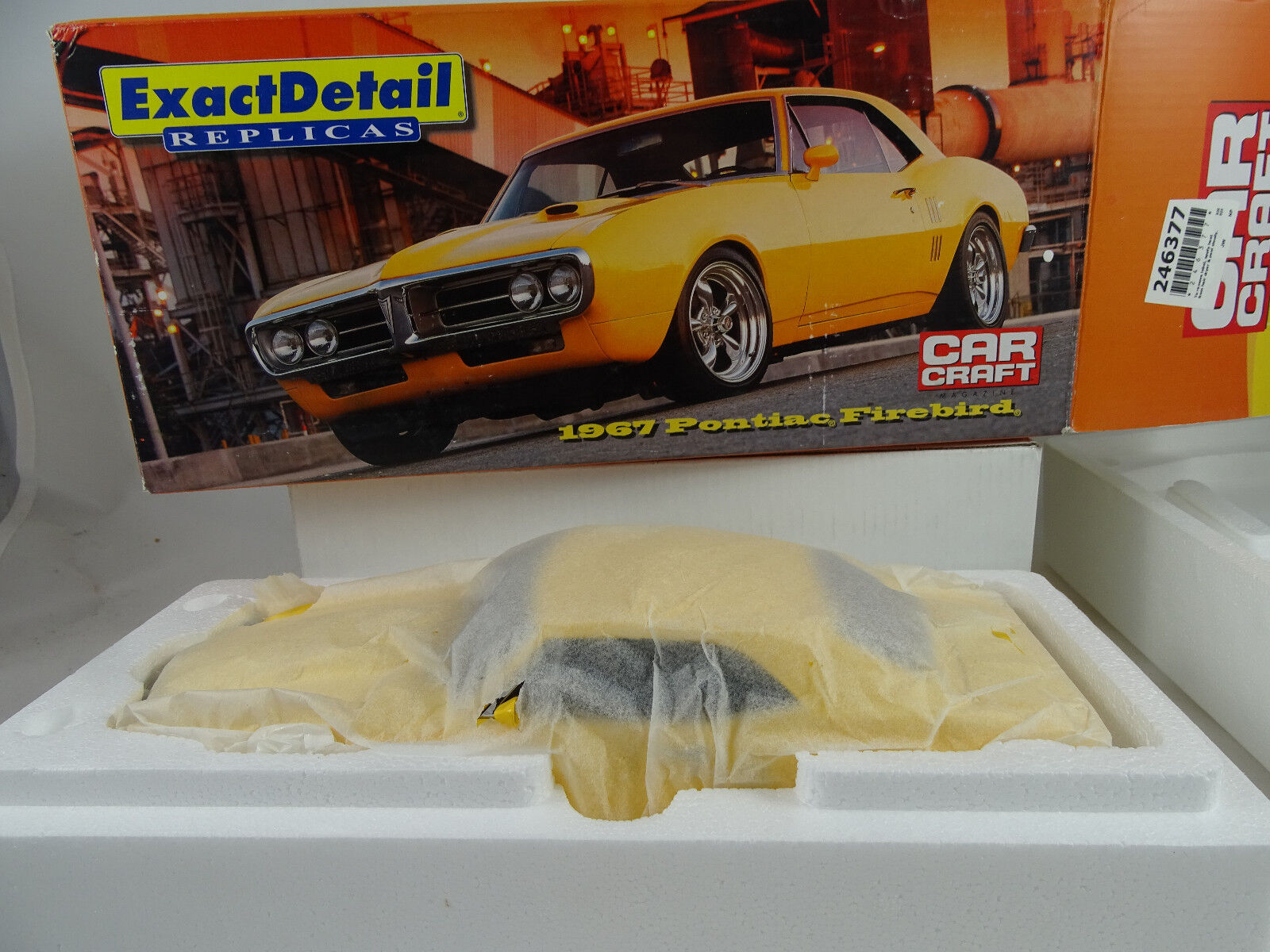 1 18 Exact Detail Pontiac Firebird Car Craft 1967 Yellow Lmtd1 1500