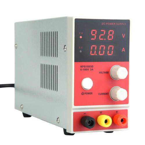 Digital Labornetzgerät 100V 3A Labornetzteil Netzgerät Regelbar DC Stabilisiert