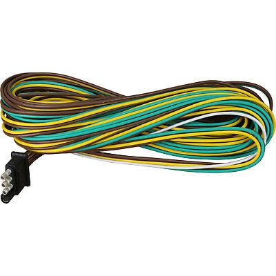 25' 4 Way Trailer Wiring Connection Kit Flat Wire Extension Harness Flat Wiring on