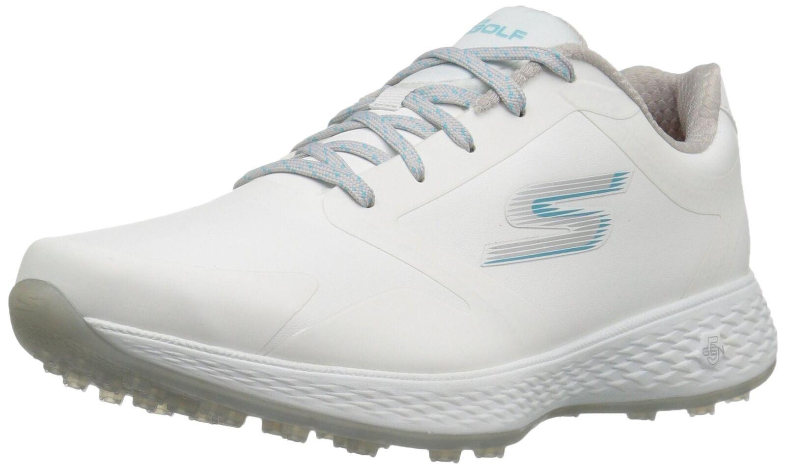 Skechers Performance Women's Go Golf Elite 2 Tour Golf Shoe White/Blue