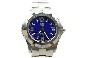 Tag-Heuer-Watch-WN1112-BA0332-38mm-Quartz-Men-039-s-Blue-X-Silver-826484