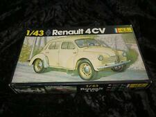 HELLER 1/43 Model Car Kit 174 RENAULT 4CV Unmade in Box 1970s Excellent