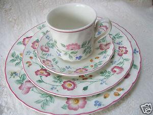 Image is loading Churchill-Fine-English-Tableware-Briar-Rose-Pattern-4- & Churchill Fine English Tableware Briar Rose Pattern 4 Piece Place ...