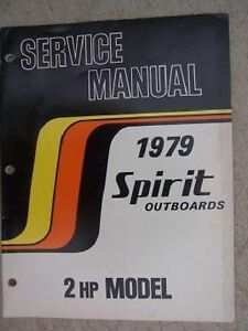 Antiques Maritime 1978 2 Hp Spirit Outboard Motor Parts List Manual Book