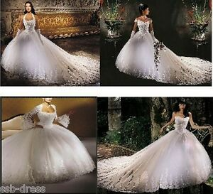 Stunning-Wedding-Dress-Custom-size-2-4-6-8-10-12-14-16-18-20-22-24-26-28-30-32