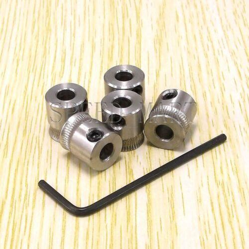 5pcs MK7 extruder drive Gear reprap makerbot stainless steel 304 for 5mm Nema17