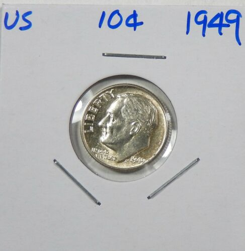 1949 Silver Roosevelt Dime Uncirculated