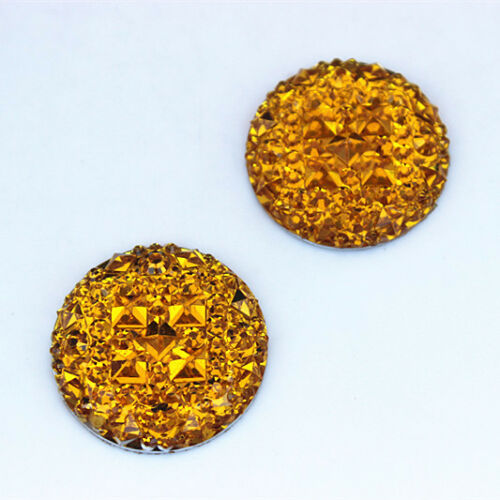 30PCS 25mm Resin Rhinestones Round crystal Stone Flatback Beads ZZ670