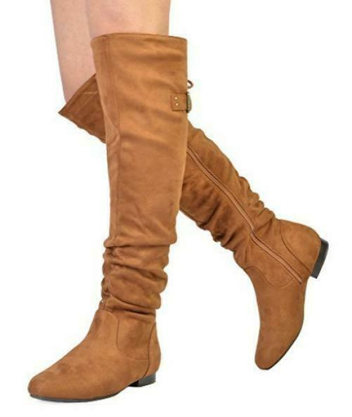 DREAM PAIRS PAIRS PAIRS Women's Fashion Casual Over The Knee Pull On Slouchy Boots f21bd4