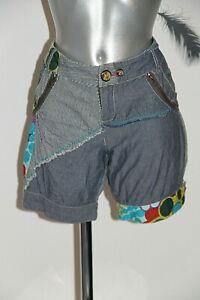 joli-short-patchwork-en-jeans-DESIGUAL-taille-40-fr-44i-EXCELLENT-2TAT