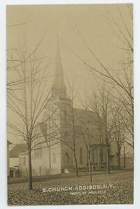 RPPC-Episcopal-Church-ADDISON-NY-Steuben-County-New-York-Real-Photo-Postcard