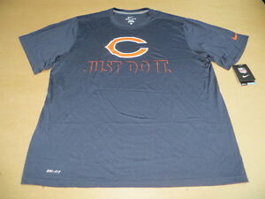 d91aa0e1f Chicago Bears NFL JUST DO IT Men s Nike Dri Fit Blue T-Shirt Blue ...
