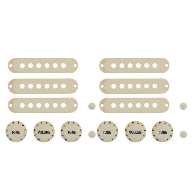 Guitar Parts Set Schalterspitze Single Coil Pickup Cover 1 Volume 2 Tone Regler