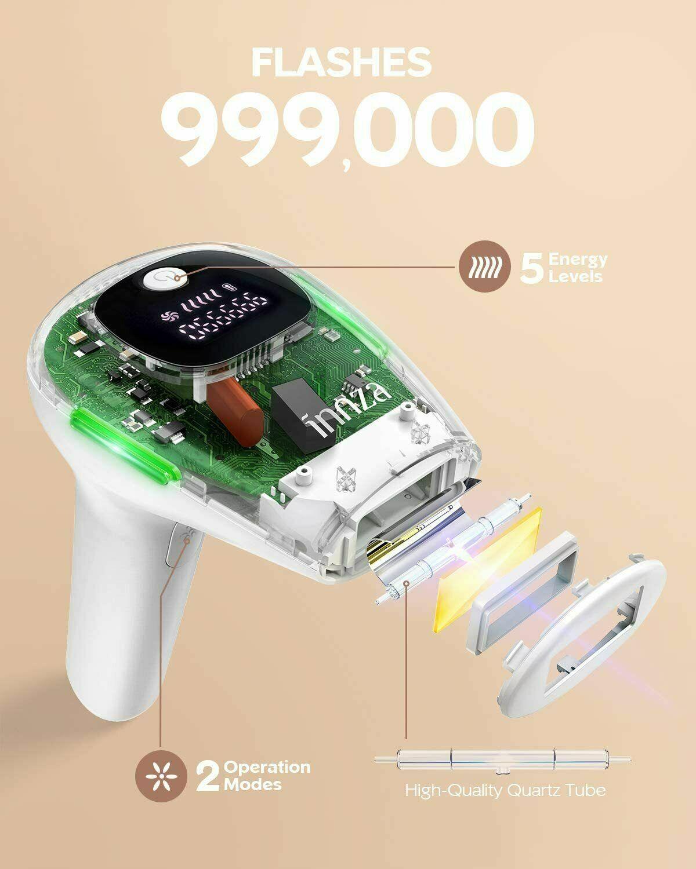 INNZA 999000 Impulse Laser IPL Haarentfernungsgerät Schmerzlos Epilierer Körper