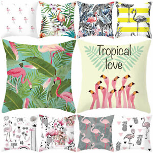 Am-Modern-Flamingo-Pillow-Case-Cushion-Cover-Soft-Polyester-Peach-Skin-Decor-Re