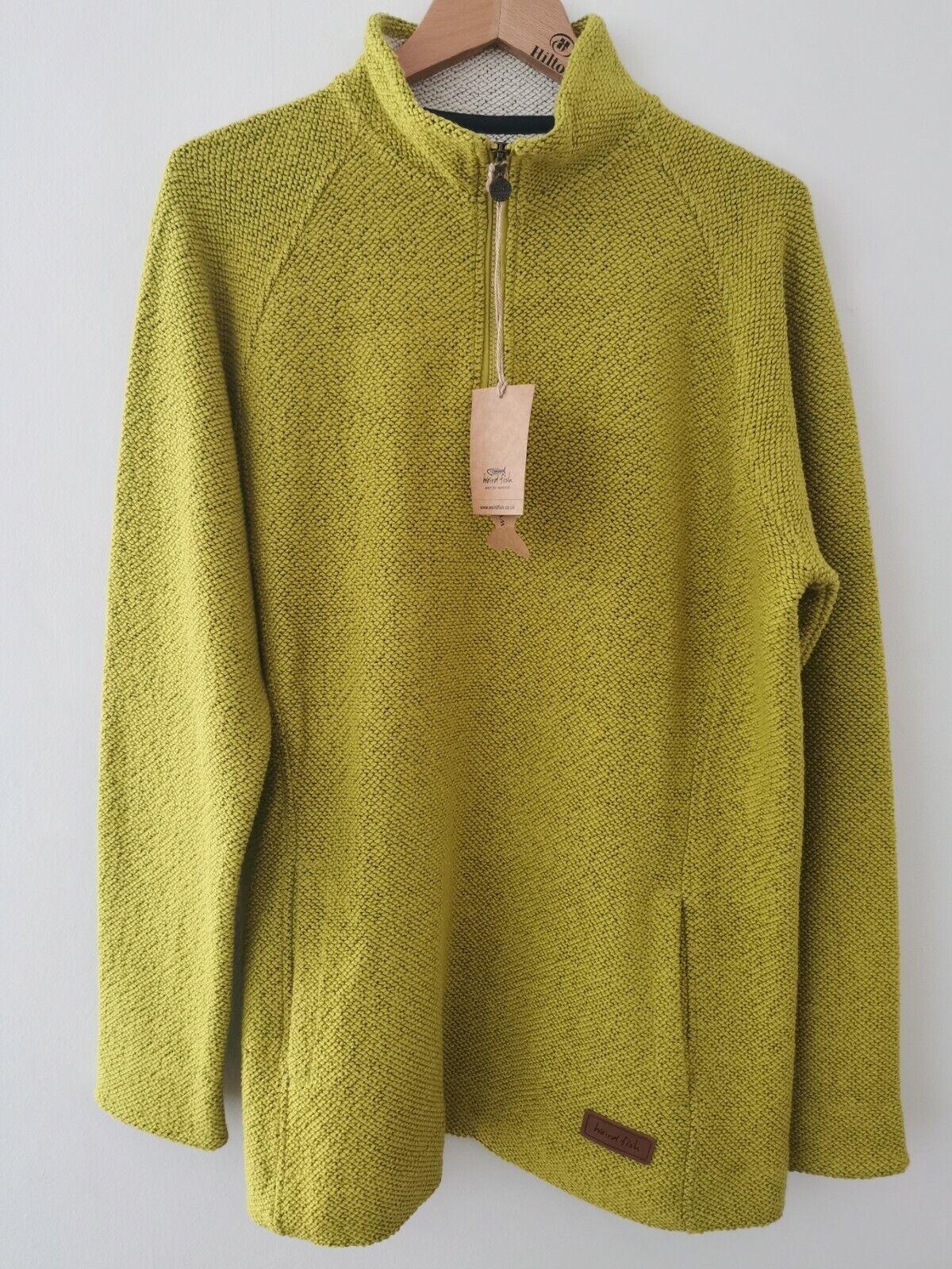BNWT Weird Fish Citronella Macaroni 1/4 Zip Sweatshirt Size UK 18 * NEW RRP