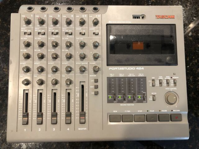 TASCAM 424 MKIII Portastudio 4 Track Recorder w//AC adapter 6 months Warranty #1