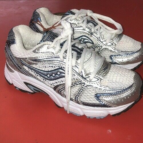 Saucony femmes's Cohesion 4 Running chaussures - Taille 6  blanc bleu.  NWOB