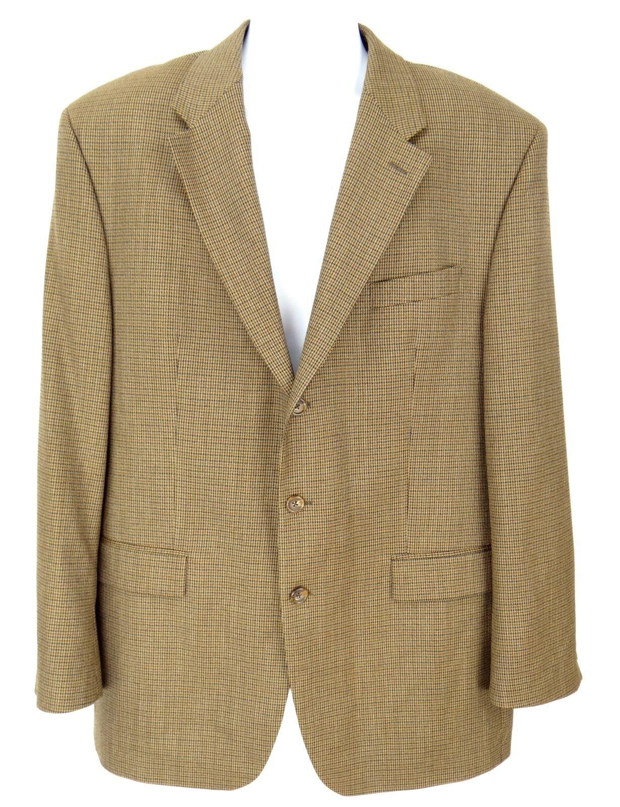 RALPH LAUREN Blazer Sport Coat Men's SIZE 46L Wool Herringbone Brown3-Button