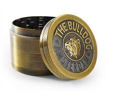 Best Herb Grinder Tobacco Smoke Spice Sheder Metal Crusher 4 Piece Bulldog Style