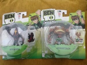 2 X Ben 10 Action Figures Omniverse Malware Gravattack Boxed Sealed Ebay