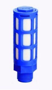 """1/4"""" Bsp Filetage Plastique Valve Muffler Exhaust Ventilation Psl-02 Pneumatique Bleu Filtre-afficher Le Titre D'origine Prix De Rue"""