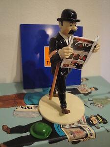 Herge-Figurine-Lisez-Tintin-Dupond-Chapeau-de-Tournesol-Moulinsart