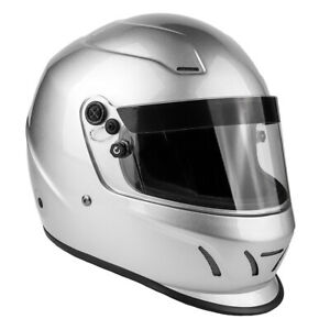 Adult SNELL SA2015 Helmet Full Face Helmet Silver Small Medium Large XL XXL