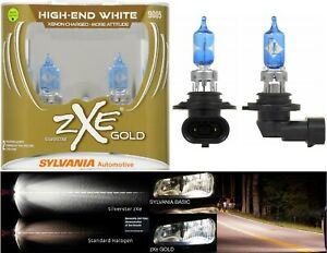 Sylvania-Silverstar-ZXE-Gold-9005-HB3-65W-Two-Bulbs-Head-Light-Hi-Beam-Plug-Play