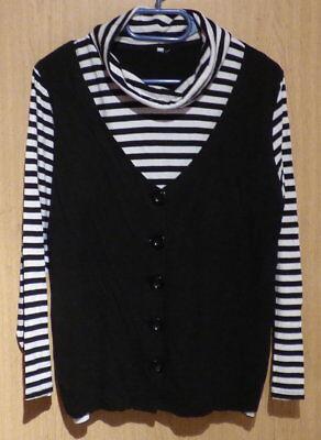 Sweatshirt Damenshirt Doppeloptik Rollkragen Sweatshirt Größe 38/40 Einfach Zu Schmieren