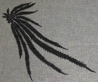 1 Neue Lang Pfau Polyester Spitze Applikation Braut kleidung Venise Nähen