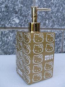 Accessori Bagno Hello Kitty.Soap Dispenser Gold Oro Hello Kitty Distributeur Dispensador Accessori Bagno Hk Ebay