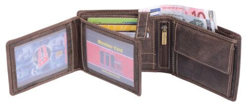 Borsa fittizio Portafoglio LEAS Portafoglio trasversale in vera pelle- portafoglio marrone