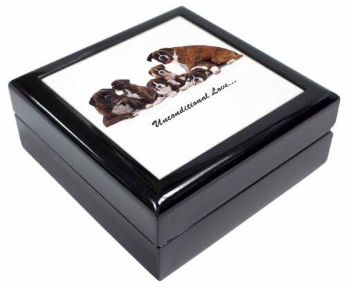 Boxer Dog-Love Keepsake//Jewellery Box Christmas Gift AD-B25uJB