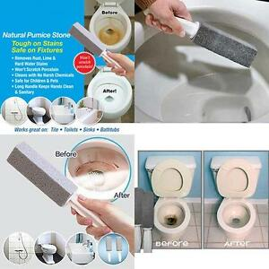 1 2pcs water toilet bowl natural pumice stone cleaner brush wand cleaning tool q ebay. Black Bedroom Furniture Sets. Home Design Ideas